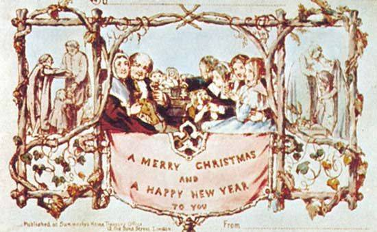 World's first Christmas card