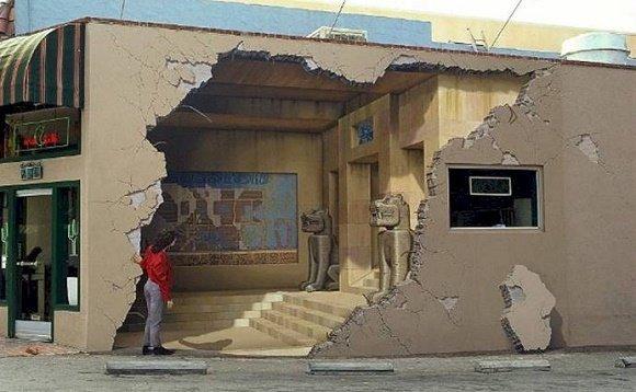 John Pugh 3D mural Los Gatos California