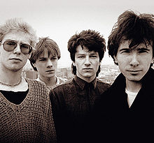 U2 in 1980: Clayton, Mullen, Bono, The Edge