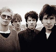 U2 in 1980: Clayton, Mullen, Bono, The Edge