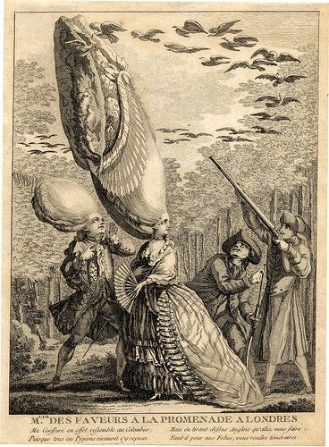 18th century tall wig ridicule