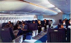 notranjost letala A3XX