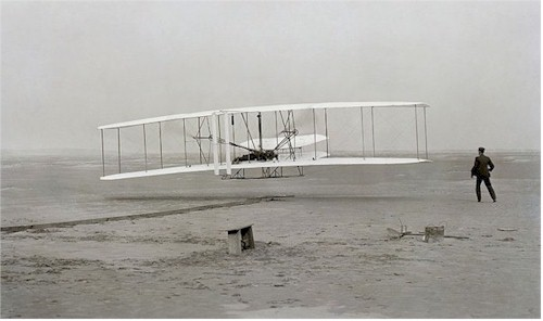 Orville Wright makes first flight