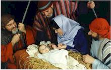Magi with baby Jesus