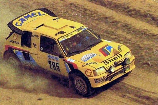 Peugeot 205 T16 Grand Raid wins Dakar 1987