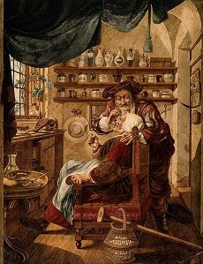 A_barber-surgeon_extracting_stones_from_a_woman'_ head_J._Cats_after_B._Maton
