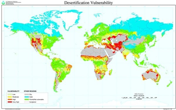 Desertification map