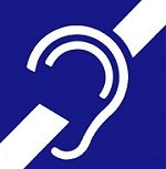 International symbol of deafness or hard of hearing
