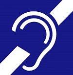 International symbol of deafness or hard of hearing