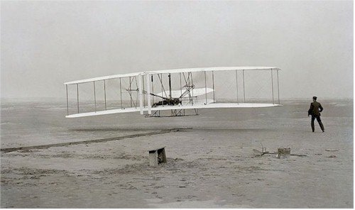 Orville Wright's first flight