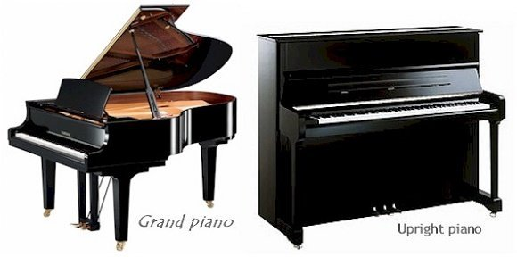 A grand piano plays faster than an upright piano