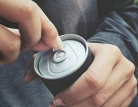 Soda can tapping