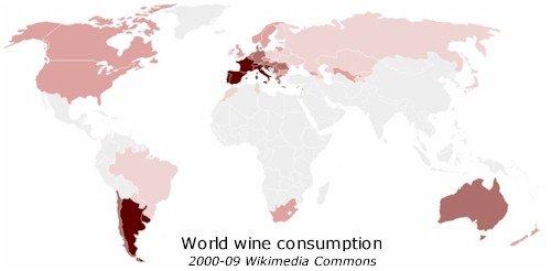 World wine consumption